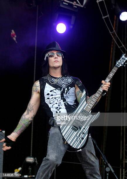 Synyster Gates lead guitarist from Avenged Sevenfold performing live at Download festival Downington Park on June 102006 Job 12594