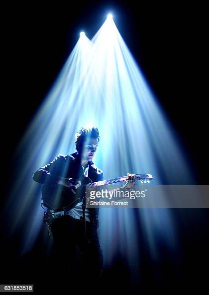 Synyster Gates of Avenged Sevenfold performs at Manchester Arena on January 16 2017 in Manchester England