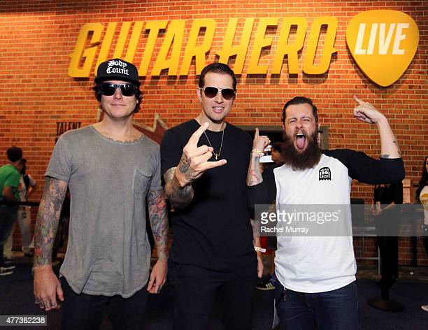 Synyster Gates of the band Avenged Sevenfold M Shadows of the band Avenged Sevenfold and Jamie Jackson Creative Director of FreeStyleGames stop by...