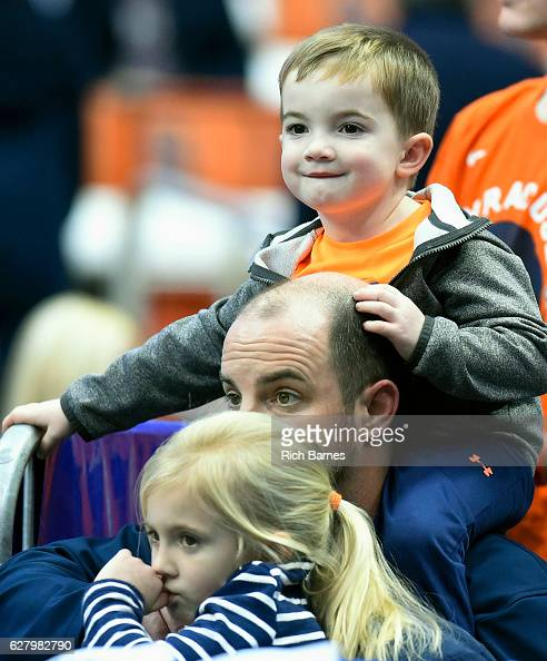 Syracuse Orange fans look on prior to the game against the North Florida Ospreys at the Carrier Dome on December 3 2016 in Syracuse New York Syracuse...