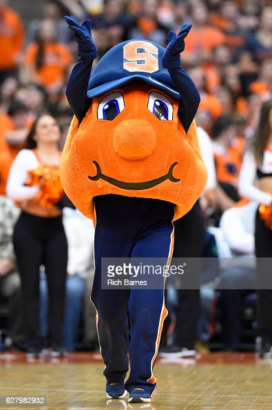 Syracuse Orange mascot Otto performs prior to the game against the North Florida Ospreys at the Carrier Dome on December 3 2016 in Syracuse New York...