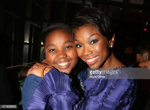 Sy'rai Iman Smith and mother Brandy Norwood pose at the Opening Night After Party for Brandy's debut in 'Chicago' on Broadway at David Burke fabrick...