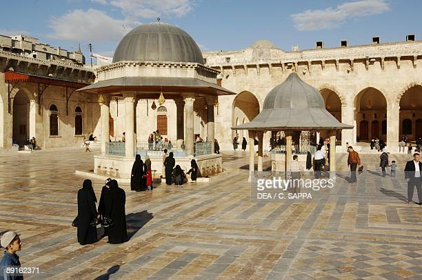 Syria Aleppo Historical Aleppo UNESCO World Heritage List 1986 Umayyad Great Mosque 11th century Courtyard