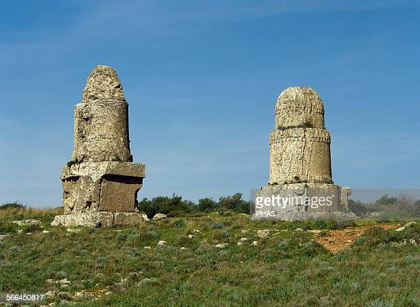Syria Amrit or Marathos Ancient Phoenician city d 'al Maghazil' or The Spindles