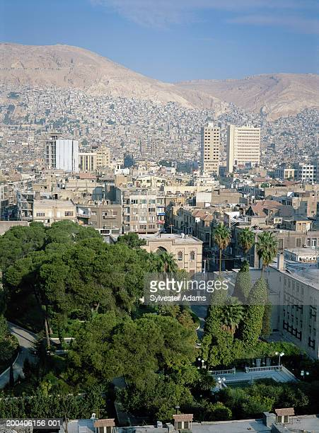 Syria, Damascus, cityscape, elevated view