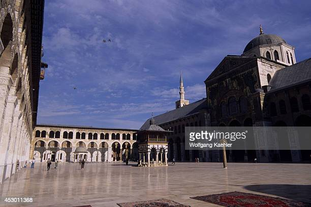 Syria Damascus Old Town Umayyad Mosque Inner Courtyard Built In 705 Ad