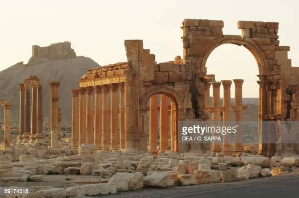 Syria Palmyra Ancient Palmyra UNESCO World Heritage List 1980 Triumphal Arch 1st2nd century AD