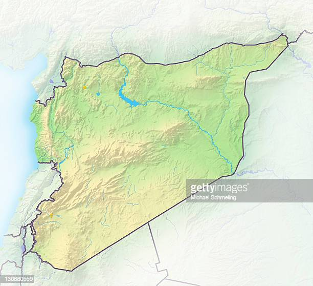 Syria, shaded relief map