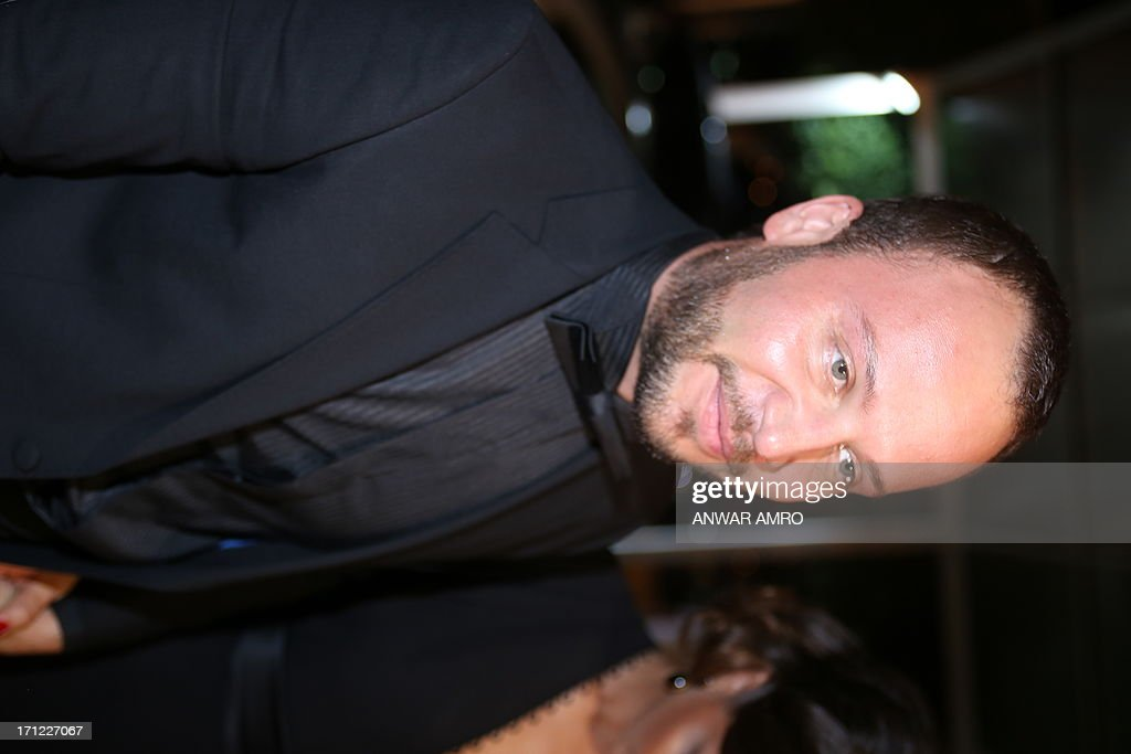 Syrian actor Maxim Khalil arrives for the 13eme Murex D'or Festival taking place at the Casino Du Liban, north of the capital Beirut, on June 23, 2013.