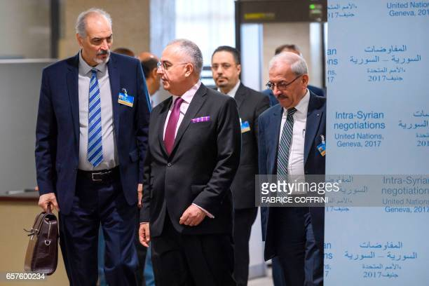 Syrian chief negotiator and Ambassador of the Permanent Representative Mission of Syria to the United Nations Bashar alJaafari and his delegation...