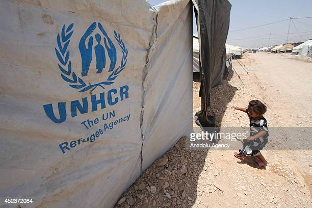 Syrian child living in Arbat Refugee Camp struggles to survive in harsh summer conditions in Sulaymaniyah Iraq on 17 July 2014 2 thousands Syrians...