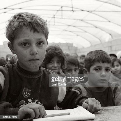 Syrian conflict - refugee children in school
