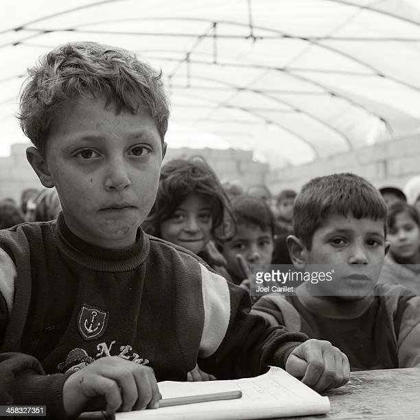 Syrian conflict - refugee children in school