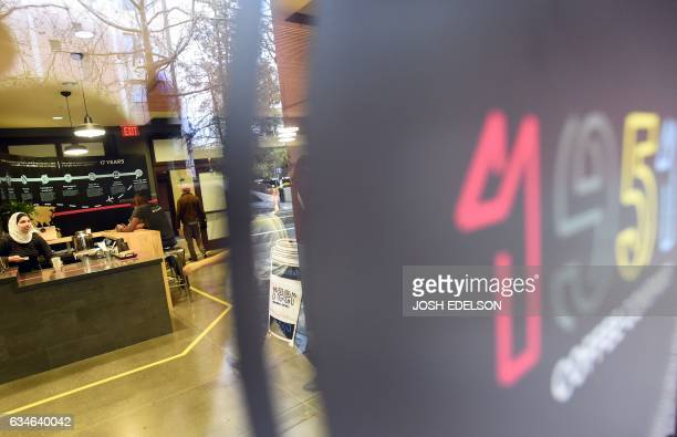 A Syrian employee who only gives her name as 'Rama' works at 1951 Coffee Company in Berkeley California on February 09 2017 The 1951 Coffee Company...