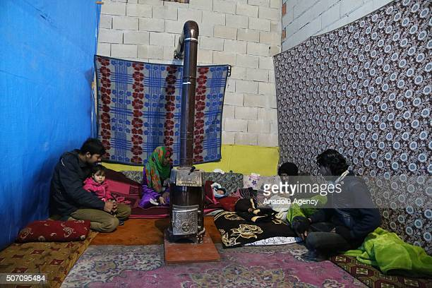 Syrian family who have escaped from Syria due to ongoing civil war had 3 babies including 1 twin as they continue their lives at their tiny home with...