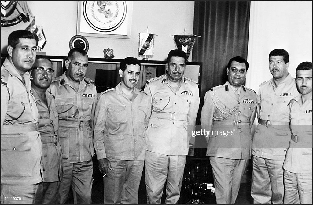 Syrian General Ahmad Suedani Syrian army's chiefofstaff meets 06 June 1967 with unidentified Iraqi officers during third IsraeliArab war On 05 June...