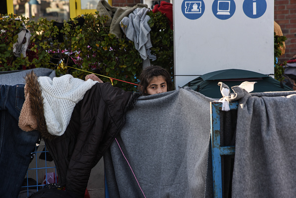 Refugees stuck in Greece due to closed borders of FYROM, in Piraeus