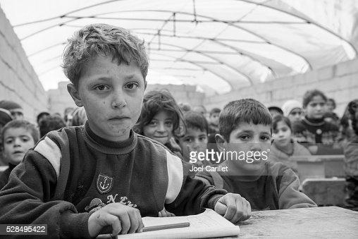 Syrian IDP children in school (Atmeh, Syria)