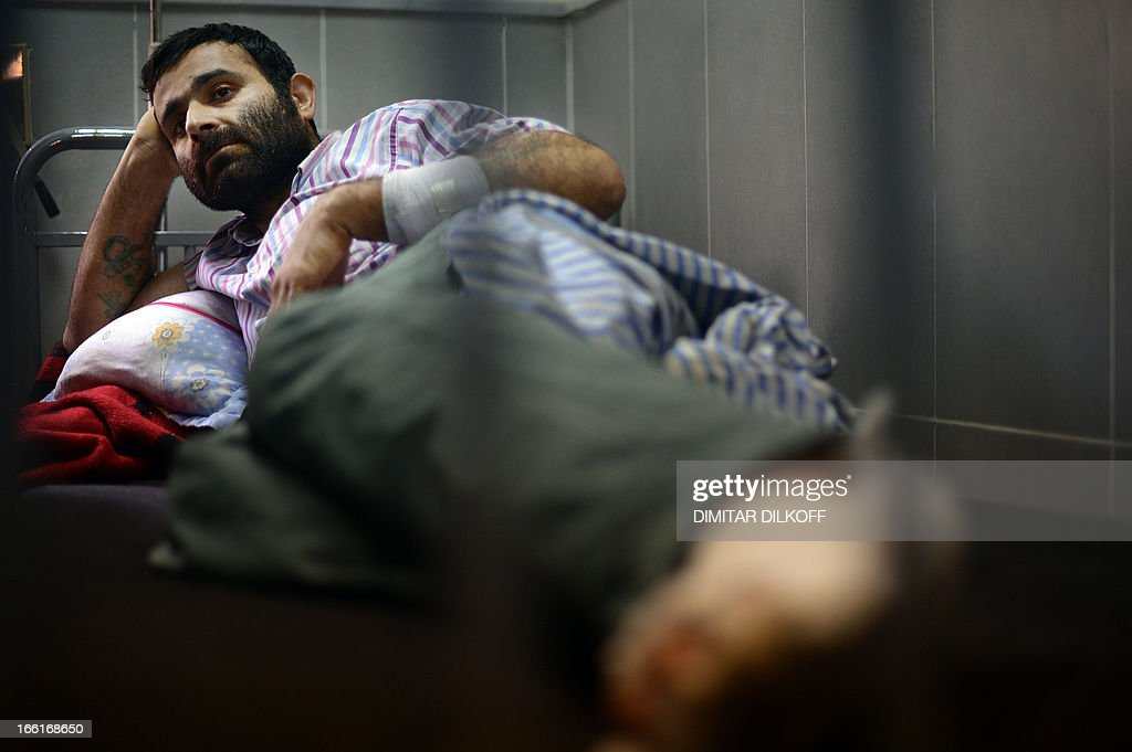A Syrian Kurdish man who was injured during an airstrike on the majority-Kurdish Sheikh Maqsud district of the northern Syrian city of Aleppo, is seen at a hospital in the northern city of Afrin on April 9, 2013. Kurds comprise 10 percent of Syria's total population, with most living in the north of the embattled country.