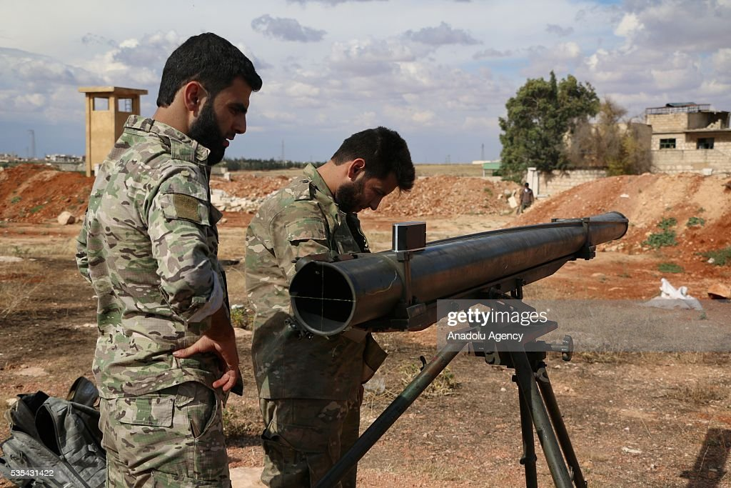Syrian oppositions linked to First regiment attack Assad Regime positions at Al Sheikh Youssef hills in Aleppo, Syria on May 29, 2016.