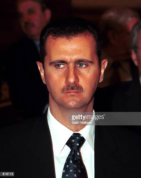 Syrian President Bashar Al Assad attends the first day of the Arab Summit March 27 2001 in Amman Jordan 22 Arab Countries convened for the first...