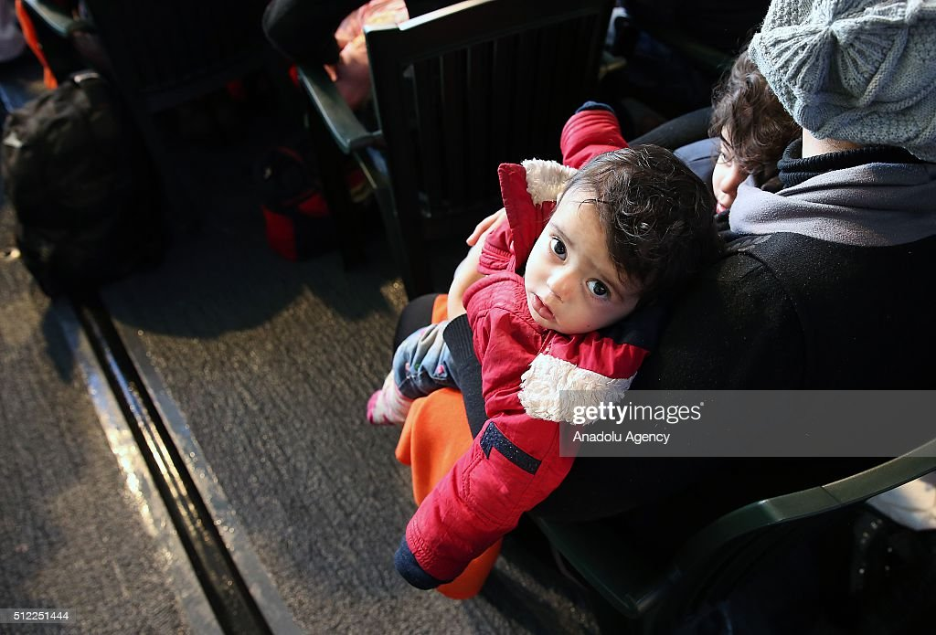 Syrian refugee boy who tried to go to Greek Island Chios with his family is seen after 127 Syrian origin refugees were caught by Turkish Coast Guard...