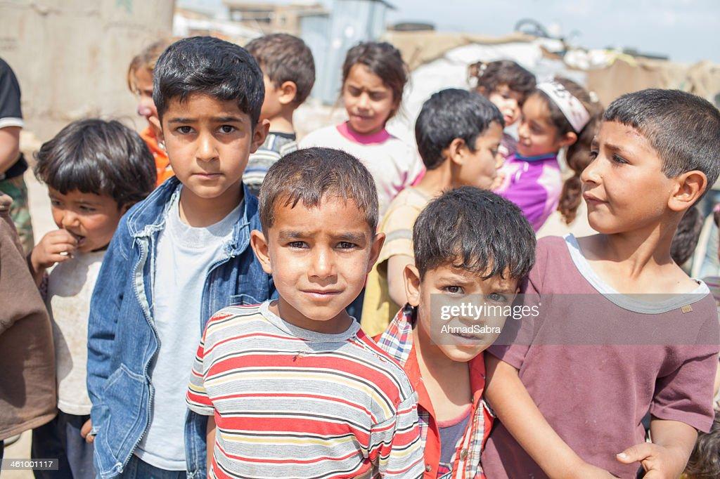 Syrian Refugee Children : Stock Photo