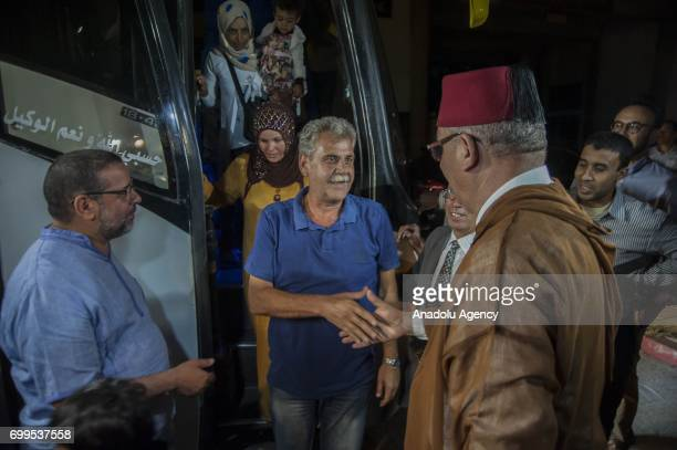 Syrian refugees arrive at Rabat after the allowance of King Mohammed VI in Rabat Syria on June 22 2017 King Mohammed VI decided to allow the entrance...