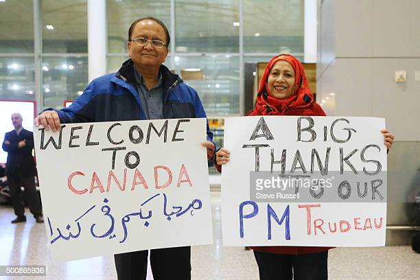 Syrian refugees begin to arrive in Canada at Pearson International Airport in Mississauga December 10 2015