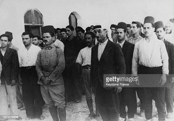 Syrian Soldiers Enlisted As Volunteers In French Army At Damascus In Syria On October 3Rd 1939
