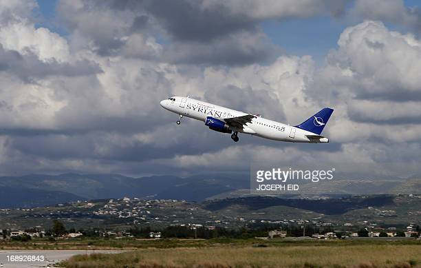 SyrianAir passenger plane takes off from Latakia airport bound for Damascus on May 15 2013 International sanctions have piled up against the Syrian...