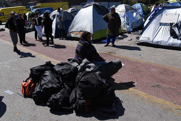 Migrants and refugees at Piraeus port, Athens, Greece