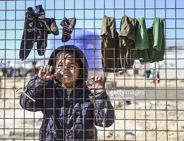 Syrians who flee the attacks of Syrian and Russian air forces to residential areas on Hayan Haritan Kafr Anadan Kafr Naya Mayir and Ihris districts...