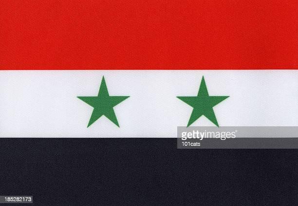 Syria's flag canvas