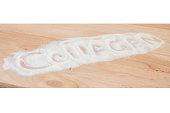 Collagen Protein PowderSyringe On Wood Background