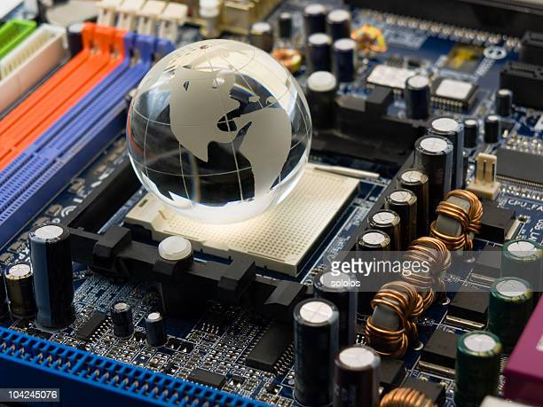 System board with globe