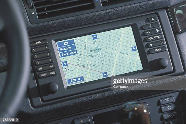 GPS system in dashboard of car
