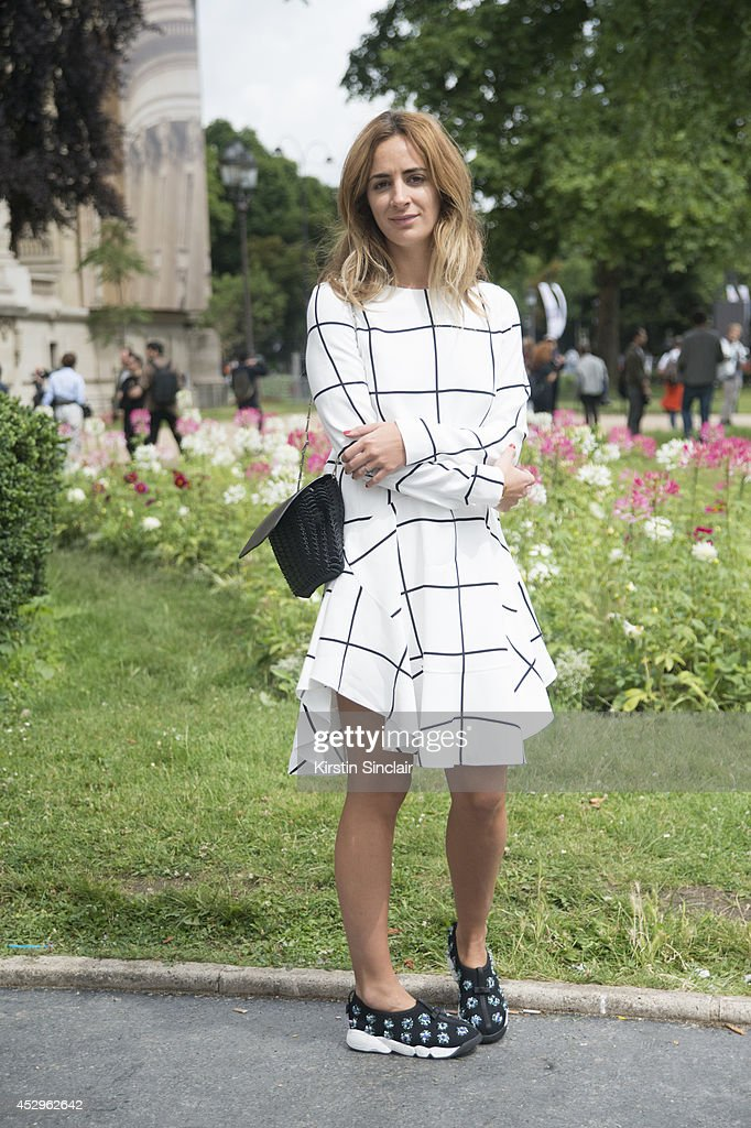 System Magazine Founder Alexia Niedzielski wearing Dior trainers and a Chloe dress day 3 of Paris Haute Couture Fashion Week Autumn/Winter 2014, on July 8, 2014 in Paris, France.