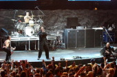 System of a Down during 10th Annual KROQ Weenie Roast at Irvine Meadows in Irvine California United States