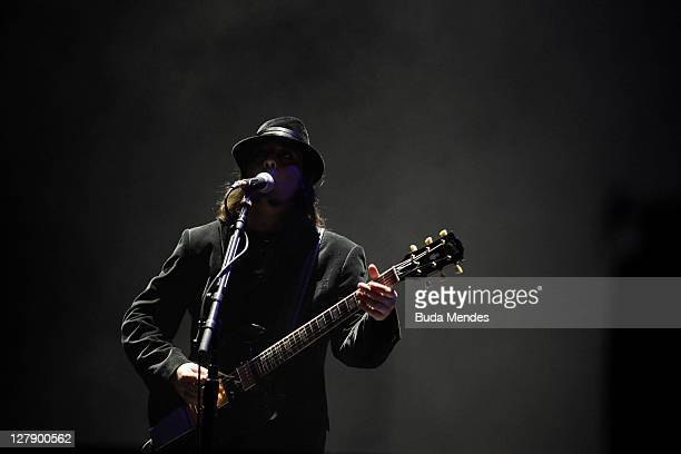 System of a Down performs on stage during a concert in the Rock in Rio Festival on October 02 2011 in Rio de Janeiro Brazil Rock in Rio Festival...