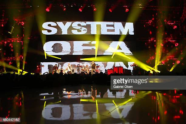 System of a Down performs onstage during day one of the 25th annual KROQ Almost Acoustic Christmas at The Forum on December 13 2014 in Inglewood...