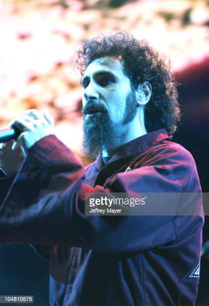 System Of A Down Serj Tankian performing at OzzFest 2002