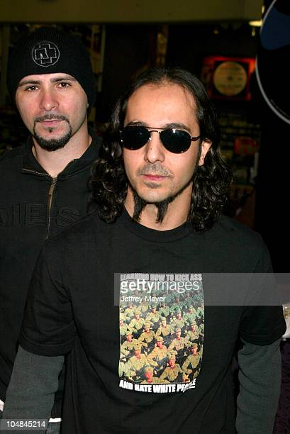 System Of A DownJohn Dolmayan Daron Malakian during System Of A Down InStore Appearance to Support Their New CD 'Steal This Album' at Tower Records...