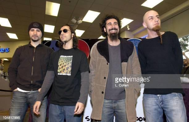System Of A DownJohn Dolmayan Daron Malakian Serj Tankian Shavo Odadjian