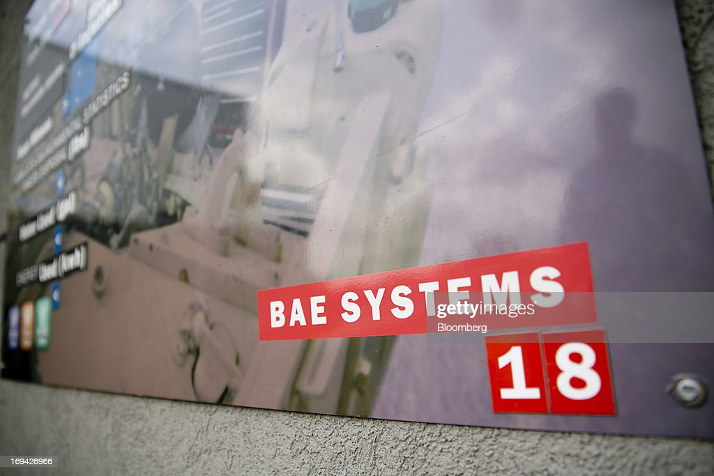 Systems sign hangs at the BAE Systems Plc Land & Armaments facility in York, Pennsylvania, U.S., on Thursday, May 23, 2013. BAE Systems Plc is deploying smaller suppliers to pressure U.S. lawmakers to speed up orders to modernize Bradley fighting vehicles, a move the company said may protect thousands of subcontractor jobs and keep a Pennsylvania assembly line open. Photographer: Andrew Harrer/Bloomberg via Getty Images