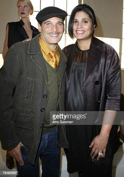 Sytlist Phillip Bloch and designer Rachel Roy attend the presentation of the Rachel Roy Fall 2008 Collection at the Peter White Studios January 31...