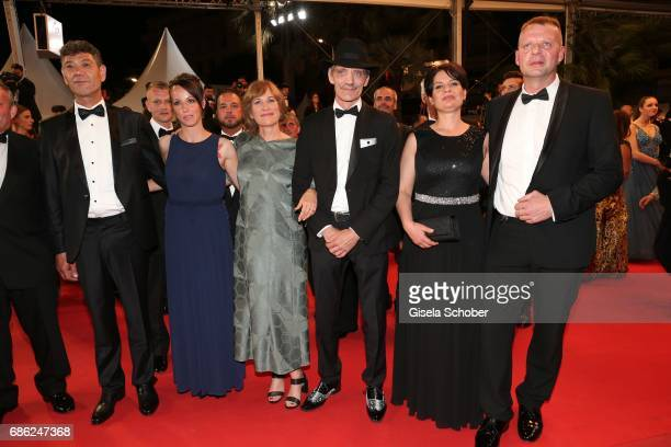 Syuleyman Alilov Letifov Vyara Borisova Valeska Grisebach Meinhard Neumann Veneta Fragnova Reinhard Wetrek attend the 'Western' screening during the...