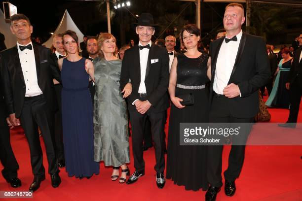 Syuleyman Alilov Letifov Vyara Borisova Valeska Grisebach Meinhard Neumann Veneta Fragnova Reinhardt Wetrek attend the 'Western' screening during the...