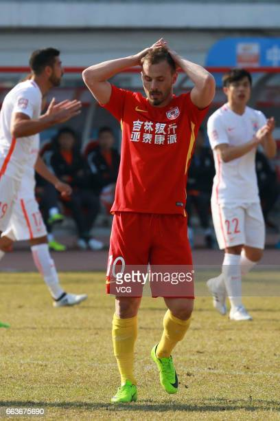Szabolcs Huszti of Changchun Yatai in action during the third round match of 2017 China Super League at Development Area Stadium on April 2 2017 in...