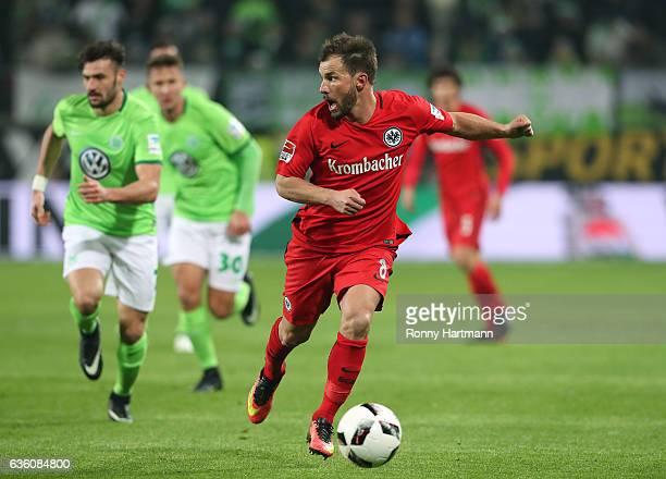 Szabolcs Huszti of Frankfurt runs with the ball during the Bundesliga match between VfL Wolfsburg and Eintracht Frankfurt at Volkswagen Arena on...